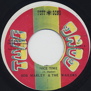 Bob Marley & The Wailers / Nice Time c/w Hypocrites back