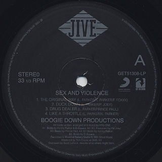 Boogie Down Productions / Sex And Violence label