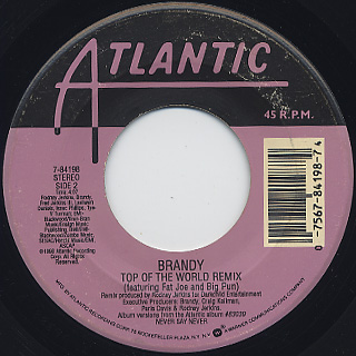 Brandy / Have You Ever? c/w Top Of The World(Remix) back