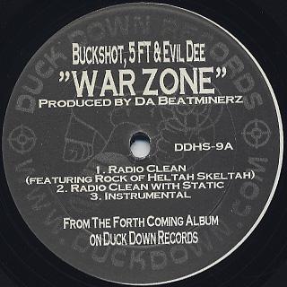 Buckshot, 5 FT & Evil Dee / War Zone label