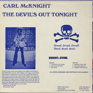 Carl McKnight / The Devil's Out Tonight back