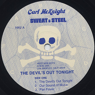 Carl McKnight / The Devil's Out Tonight label