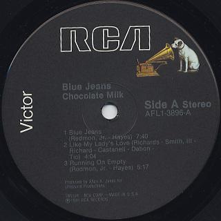 Chocolate Milk / Blue Jeans label