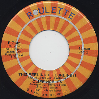 Cliff Nobles / This Feeling Of Lonliness