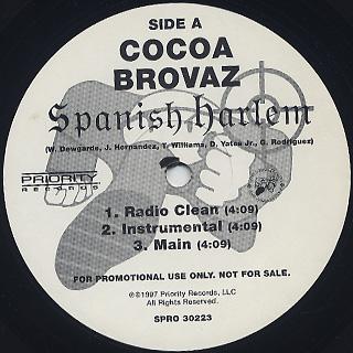 Cocoa Brovaz / Spanish Harlem back