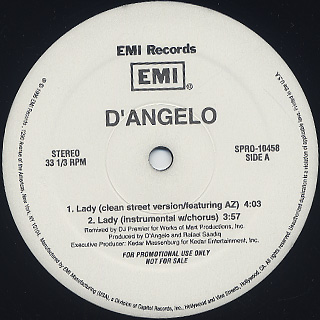 D'angelo / Lady The Remix back