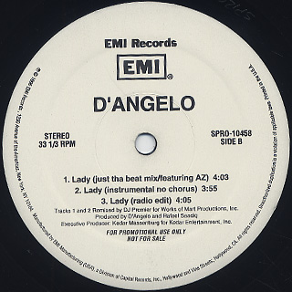 D'angelo / Lady The Remix label