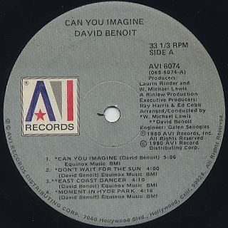 David Benoit / Can You Imagine label