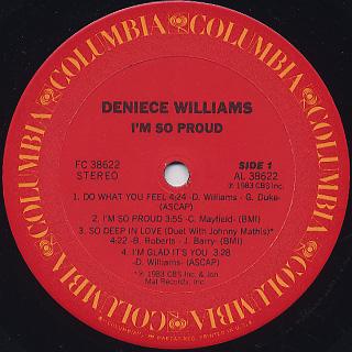 Deniece Williams / I'm So Proud label