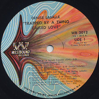 Denise LaSalle / Trapped By A Thing Called Love label