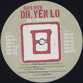 Dr. Yen Lo / Days With Dr. Yen Lo label