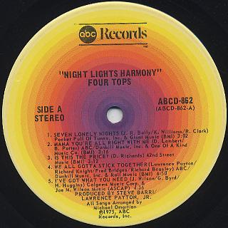 Four Tops / Night Lights Harmony label