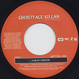 Ghostface Killah / Camay c/w Daytona 500 label