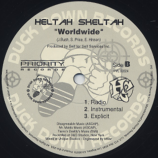 Heltah Skeltah / I Ain't Havin' That c/w Worldwide back