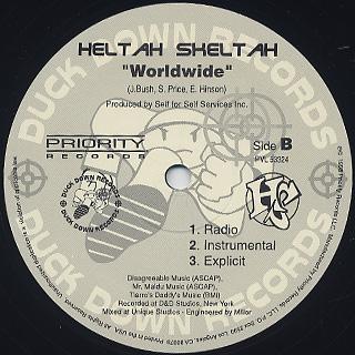 Heltah Skeltah / I Ain't Havin' That c/w Worldwide back