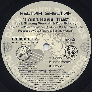 Heltah Skeltah / I Ain't Havin' That c/w Worldwide label