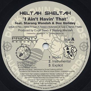 Heltah Skeltah / I Ain't Havin' That c/w Worldwide label