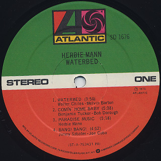 Herbie Mann / Waterbed label