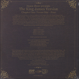 House Shoes Presents The Kings James Version / Chapter One : Verses One-Four back
