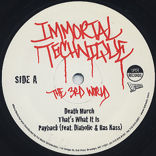 Immortal Technique & DJ Green Lantern / The 3rd World label