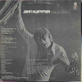 John Klemmer / Eruptions back