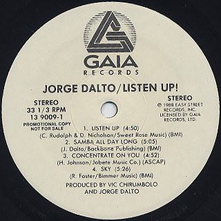 Jorge Dalto / Listen Up! label