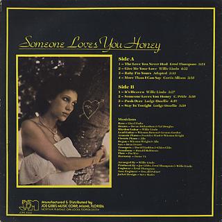 June Lodge / Someone Loves You Honey back