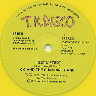 KC And The Sunshine Band / I Get Lifted (Todd Terje Edit) back