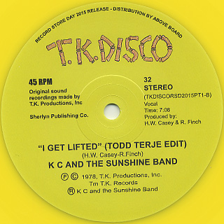 KC And The Sunshine Band / I Get Lifted (Todd Terje Edit)