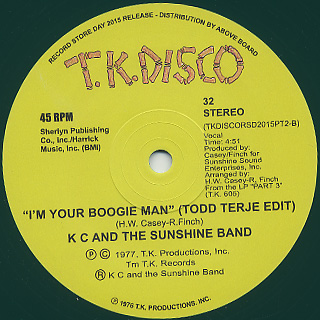 KC And The Sunshine Band / I'm Your Boogie Man back