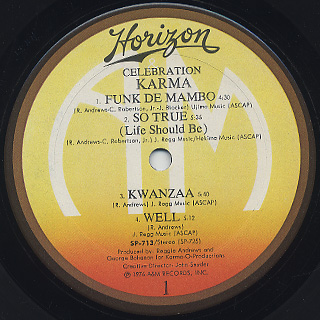 Karma / Celebration label