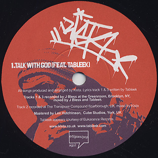 Kista / Talk With God label