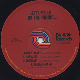 Letta Mbulu / In The Music The Village Never Ends label