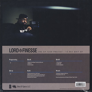 Lord Finesse / The SP1200 Project: 12-Bit Grit EP back