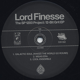 Lord Finesse / The SP1200 Project: 12-Bit Grit EP label