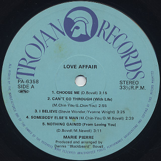 Marie Pierre / Love Affair label