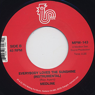 Medline / Everybody Loves The Sunshine back