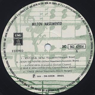 Milton Nascimento / Milton Nascimento label