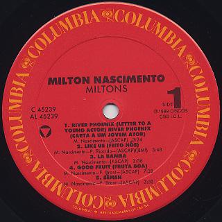Milton Nascimento / Miltons label