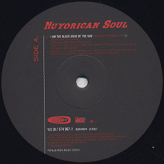 Nuyorican Soul / I Am The Black Gold Of The Sun label