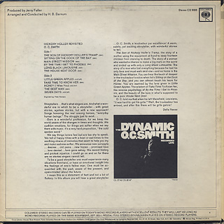 O. C. Smith / The Dynamic O. C. Smith - Recorded Live back
