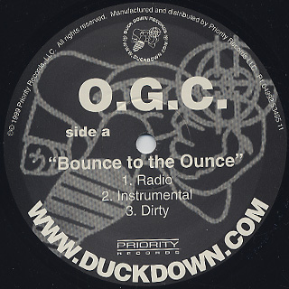 O.G.C. / Bounce To The Ounce c/w Suspect label