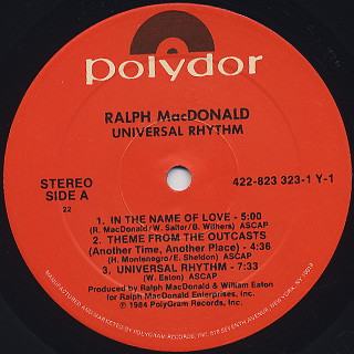 Ralph MacDonald / Universal Rhythm label