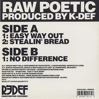Raw Poetic & K-Def / Easy Way Out back