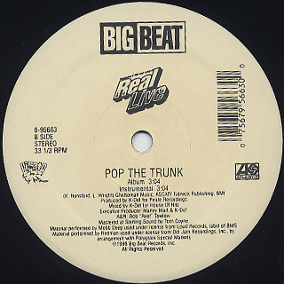 Real Live / Real Live Sh*t (Remix) / Pop The Trunk label