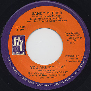 Sandy Mercer / Play With Me c/w You Are My Love back