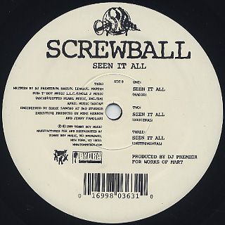 Screwball / F.A.Y.B.A.N c/w Seen It All back