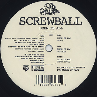 Screwball / F.A.Y.B.A.N c/w Seen It All label