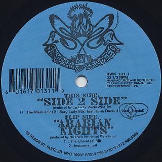 Shabaam Sahdeeq / Side 2 Side c/w Arabian Nights back