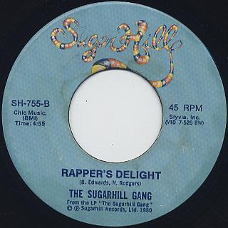Sugarhill Gang / Here I Am c/w Rapper's Delight back